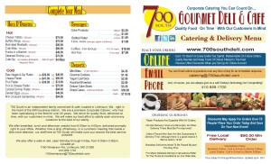 700 South Deli Catering Menu - 2015