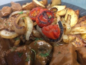 Beef Brisket Marsala over Potatoes